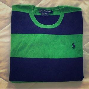 Ralph Lauren lightweight knit rugby sweater